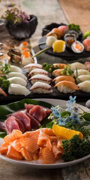 sushi, food, delicious