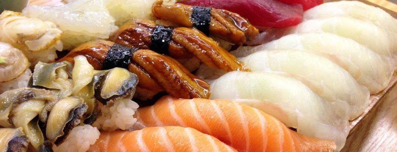 sushi, japanese, salmon