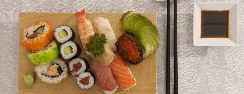sushi, plateau, kitchen