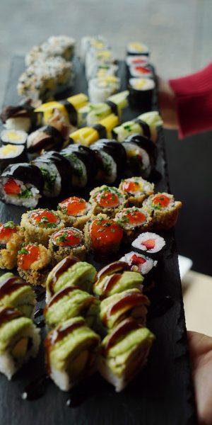 sushi, vegan, fresh
